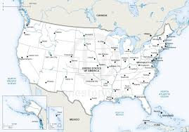 map of usa states and capitals and major cities printable map of united states with capitals us map and major