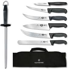 kitchen knives victorinox victorniox swiss army competition bbq 8 set black