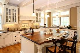 Simple Country Kitchen Designs White Tile Backsplash Built In - Simple country kitchen