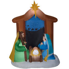 Lighted Outdoor Christmas Nativity Scene by Shop Christmas Inflatables At Lowes Com