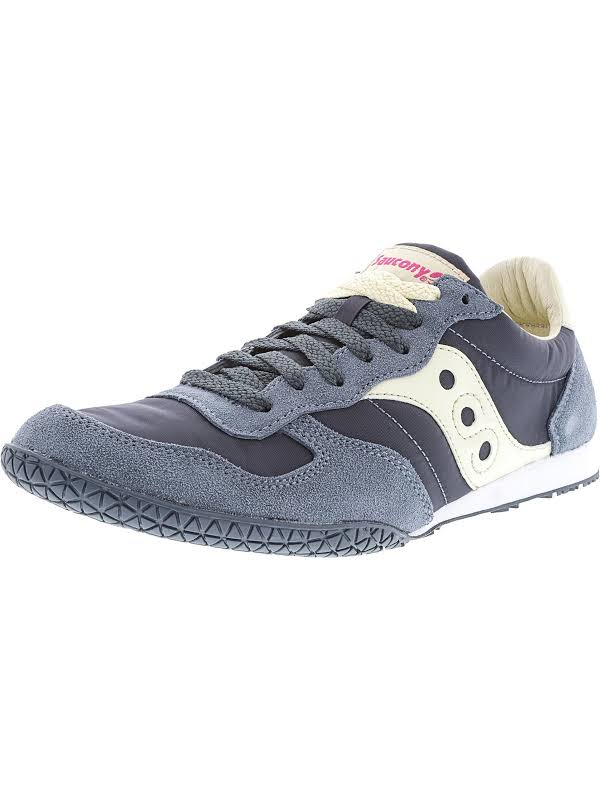 Saucony Bullet Slate / Cream Ankle-High Leather Fashion Sneaker 8.5M