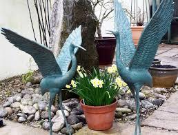 Cool Garden Ornaments Ornament Outdoor Crane Garden Statues U Accents Fashionable Ideas