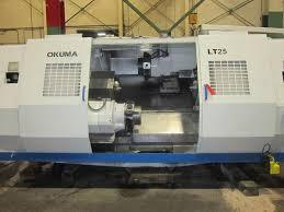 okuma lt 25 twin spindle twin turret cnc lathe s u0026m machinery