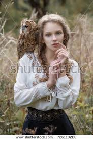 Owl Shoulder - with owl stock images royalty free images vectors