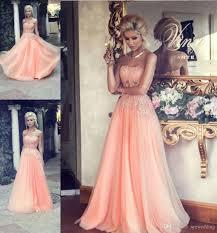 2015 peach wedding dresses strapless beaded appliques sheer corset