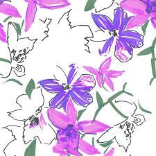 felt tip sketches and unfinished designs must have floral