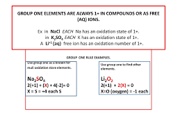 one rule ppt rules of oxidation number assignment powerpoint presentation