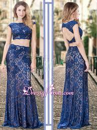 quinceanera damas dresses two bateau backless royal blue quinceanera dama dresses in lace