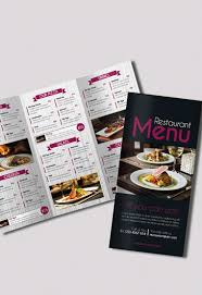 brochure 3 fold template psd restaurant menu free psd tri fold psd brochure template by