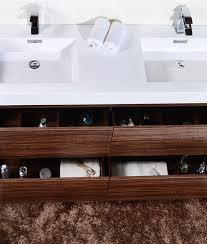 Walnut Bathroom Vanity by Bliss 60