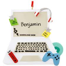 personalized computer ornament hobbies