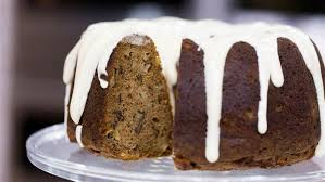 spiced apple walnut cake with cheese icing today