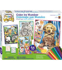 dimensions pencil works color by number kit friendly animals joann