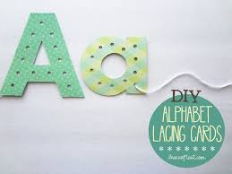 diy alphabet lacing cards help your child learn to write live