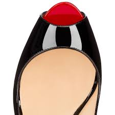 christian louboutin private number patent leather black red