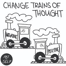change trains of thought art to self