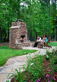 natural stone fireplace in charlotte archadeck outdoor living