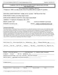 How To Make A Resume For Call Center Job by Carroll County Berc U2013 Carroll County Business U0026 Resource Center