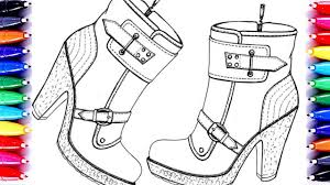 high heels shoes coloring pages purple shoes how to paint