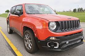 jeep renegade trailhawk orange 2017 jeep c suv prototype spied wearing renegade body shell