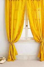 Bright Colored Curtains Hlc Me 2 Piece Sheer Window Curtain Grommet Panels Bright Yellow