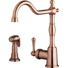 kitchen copper kitchen faucets for leading copper kitchen