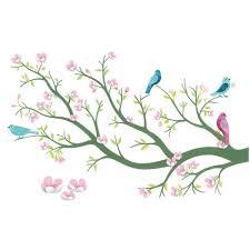 stickers repositionnables chambre bébé djeco stickers chambre bébé cerisier en fleurs