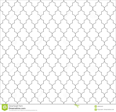 moroccan islamic seamless pattern background in black and white