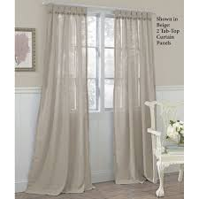 Curtains With Tabs Awesome White Burlap Curtains And Rustic Burlap Curtain Tab Top