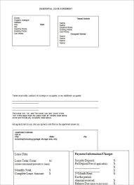 rental agreement form sample example creativetemplate