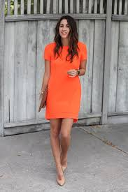 orange dress le fashion a bright and easy summer wedding look