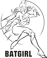 batgirl coloring pages free to download 8975