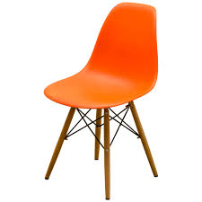 eames chair orange mid century wire chair by charles ray eames for