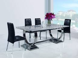 Steel Living Room Furniture New Fashion Living Room Furniture Stainless Steel Dining Table