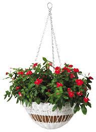 hanging basket resin wicker 13