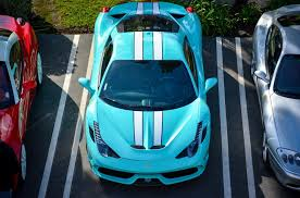 tiffany blue mustang ferrari of newport beach event hosts tiffany blue 458 speciale