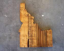state wood idaho sign etsy