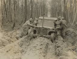 white jeep stuck in mud inquiring minds world war ii through patton u0027s lens library of