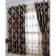 classic thermal curtains with chocolate botanical jacquard buy