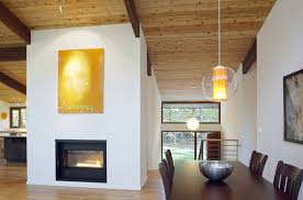 modern fireplace art dining table deck house renovation in modern fireplace art dining table deck house renovation in chapel hill north carolina