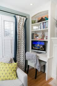 Office Living Room Ideas by Living Room Office Combination Built In Bookshelves Desk Tv