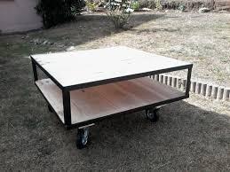 Table De Salon Industrielle by Table De Salon Style Industriel Sur Roulettes Meubles Et