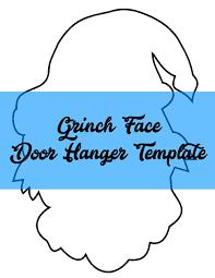 grinch face door hanger template southernadoornments