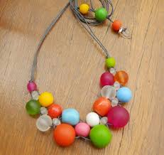 resin beaded necklace images Multi coloured bubble ball resin bead necklace style 2 new strat jpg