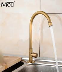 kitchen faucets rubbed bronze finish single cold kitchen faucet antique bronze finished deck mounted