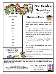 kindergarten newsletter template free the best letter sample
