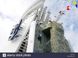 rock climbing wall liberty of the seas largest cruise ship in