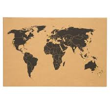 Personalised World Map Pinboard by Banter World Map Cork Board Warehouse Stationery Nz
