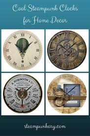 steampunk clocks for home decor
