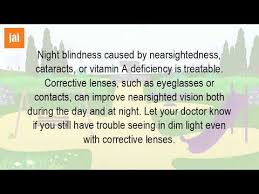 Night Blindness Deficiency What Are The Symptoms Of Night Blindness Youtube